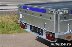 Remorca Platforma 750 kg Cu 2 Axe Si Dim Utila 250x150 cm, cu RAR - imagine 2