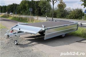 Remorca Platforma 750 kg Cu 2 Axe Si Dim Utila 250x150 cm, cu RAR - imagine 4