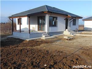 Casa cu 3 camere pe PARTER cu placa de beton deasupra pod pentru depozitare terasa beci LA CHEIE - imagine 3