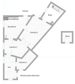 Apartament semidecomandat 3 camere zona Unirii, Marasesti, Parter - imagine 6