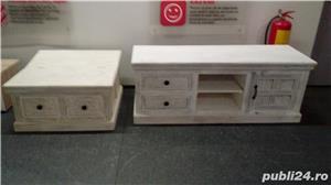set mobila lemn sculptat Delhi - imagine 3