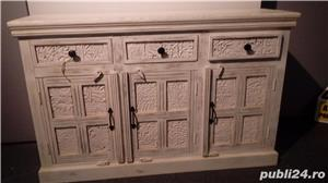 set mobila lemn sculptat Delhi - imagine 4