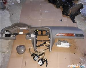 Plansa bord / kit airbag Audi A6 2005-2010 crem - imagine 1