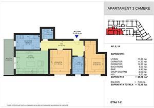 Grand Arena - Apartament 3 camere 72mp - Zona foarte linistita - Credit  - imagine 7
