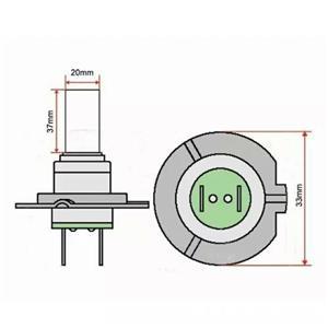 Bec far  H7 102 leduri - 3528 smd alb xenon(set 2 buc) - imagine 5