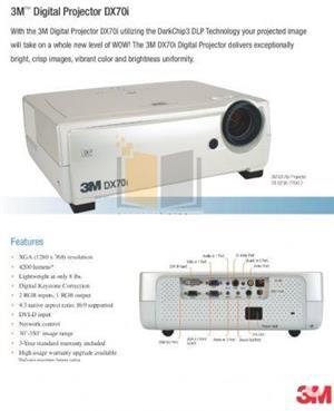 Videoproiector 3M pt sali de curs/sali de conferinte + Ecran proiectie, nou, nefolsit, garantie 1an - imagine 2