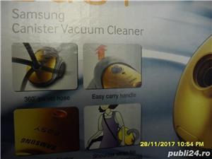 SAMSUNG Easy, Model SC52FO, Anglia, aspirator de praf, nou, la cutie, accesorii, culoare rosie, cap - imagine 2