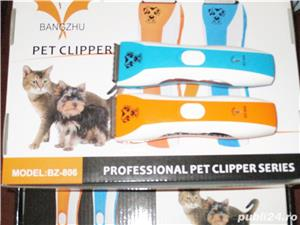 Masina masini tuns animale caini pisici Pet Clipper 2 modele cu acumulator intern, incarcare la 220V - imagine 3