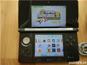 Consola Nintendo 3ds, modata, card 32gb, Pokemon Moon + Super Mario - 20 jocuri - imagine 6