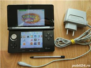 Consola Nintendo 3ds, modata, card 32gb, Pokemon Moon + Super Mario - 20 jocuri - imagine 3