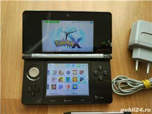 Consola Nintendo 3ds, modata, card 32gb, Pokemon Moon + Super Mario - 20 jocuri - imagine 5