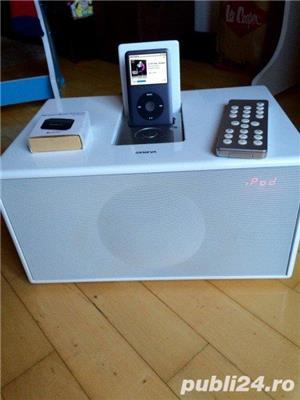 Boxa Geneva Sound System Model M+telecomanda+adaptor bluetooth,iPod,FM - imagine 2