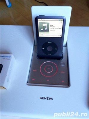 Boxa Geneva Sound System Model M+telecomanda+adaptor bluetooth,iPod,FM - imagine 3