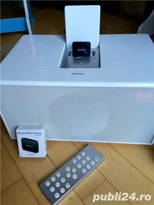 Boxa Geneva Sound System Model M+telecomanda+adaptor bluetooth,iPod,FM - imagine 6