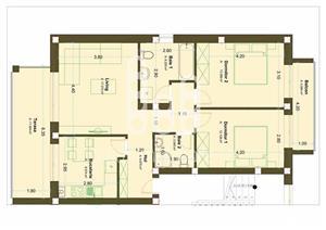 Apartamente 3 camere Intabulat cu terasa generoasa - imagine 9
