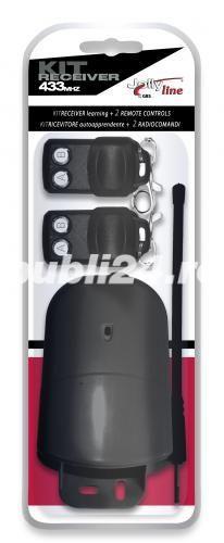 Kit exterior pentru porti batante, senzor, 2 telecomenzi, M4Y, NOU - imagine 1