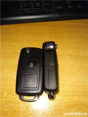 Carcasa Cheie Briceag Volkswagen - VW 2 butoane - imagine 3