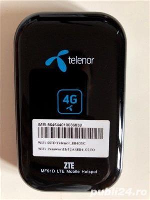 Modem router ZTE MF91D hot spot 4G Digi LTE WI-FI decodat orice retea - imagine 2