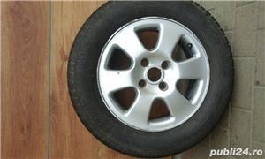 Roti aluminiu cu cauciucuri+o roata rezerva din otel cu cauciuc (bonus). - imagine 3