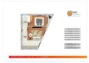 Brancoveanu - Apartament 2 camere 56mp - Zona foarte linistita - imagine 6