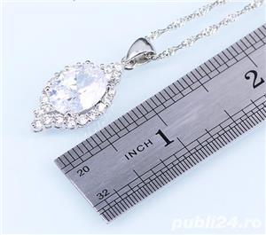 Set bijuterii din argint cu piatra din Opal - imagine 2