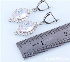 Set bijuterii din argint cu piatra din Opal - imagine 3