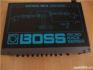 Egalizator BOSS RGE-10 Graphic EQ,egalizor micro rack chitara instrument JAPAN - imagine 5