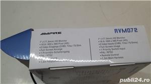 Monitor auto Ampire rvm 072 , alimentare 12/24 v 7 inchi 17,7 cm pt  Camera marsarier  - imagine 7