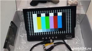 Monitor auto Ampire rvm 072 , alimentare 12/24 v 7 inchi 17,7 cm pt  Camera marsarier  - imagine 3