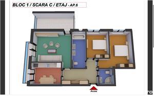 Dezvoltator, 3 camere 80,20 mp. utili cu terasa de 13,50 mp. - imagine 1