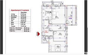 Dezvoltator, 3 camere 80,20 mp. utili cu terasa de 13,50 mp. - imagine 2
