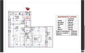 Dezvoltator, 2 camere confort 1, decomandat, etaj 2. Comision 0! - imagine 2