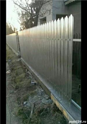 Facem Garduri diferite modeluri (din palsa bordurata sau din placi de beton si sipca detali vs - imagine 1