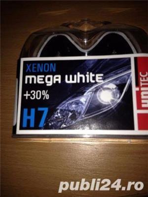 Becuri Xenon mega white H7 12V 55W - imagine 1
