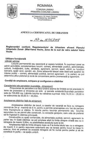 Teren intravilan Vama Veche cu certificat de urbanism P+4E la 200 m de plaja - imagine 4