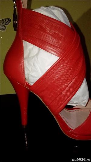 Sandale Miss Sixty noi din piele naturala 39 - imagine 2