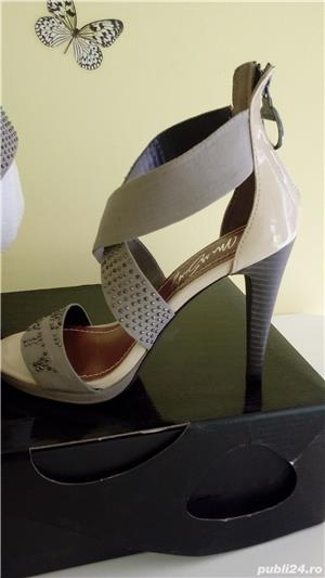 Sandale Miss Sixty noi din piele naturala 39 - imagine 9