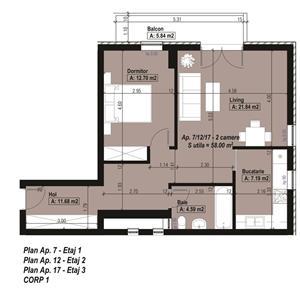 Apartament 2 Camere, Aradului, Direct de la Dezvoltator - imagine 3