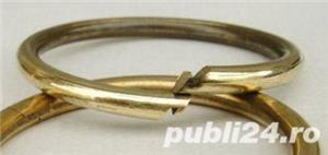Breloc chei din alama, inele alama, heavy-duty - imagine 4