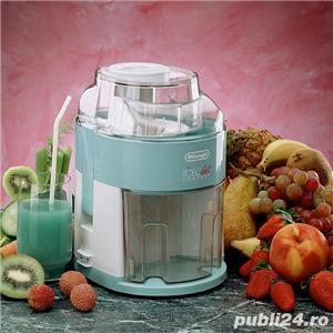 Storcator de fructe si legume DeLonghi RoboDiet Compact KC280, 170 W, Recipient suc 0.5 l, Verde - imagine 2