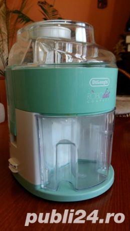 Storcator de fructe si legume DeLonghi RoboDiet Compact KC280, 170 W, Recipient suc 0.5 l, Verde - imagine 4