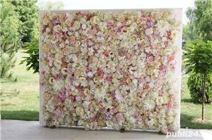 Aranjamente florale, Panou floral nunta-botez Giurgiu Bellagio Events  - imagine 3
