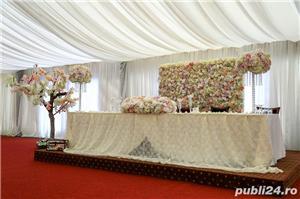 Aranjamente florale, Panou floral nunta-botez Giurgiu Bellagio Events  - imagine 2