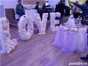 Aranjamente florale, Panou floral nunta-botez Giurgiu Bellagio Events  - imagine 10