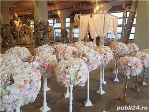 Aranjamente florale, Panou floral nunta-botez Giurgiu Bellagio Events  - imagine 6