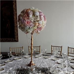 Aranjamente florale, Panou floral nunta-botez Giurgiu Bellagio Events  - imagine 4