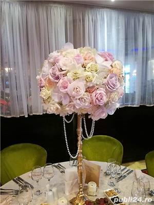 Aranjamente florale, Panou floral nunta-botez Giurgiu Bellagio Events  - imagine 8