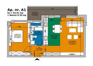 De vanzare apartament cu 2 camere Imobil Cehov - imagine 2