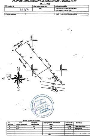 Teren intravilan / Comuna Adunatii-Copaceni  - imagine 3