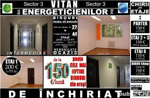Sector 3-Energeticienilor, birouri 22mp in imobil de birouri, incepand de la 110 euro! - imagine 1